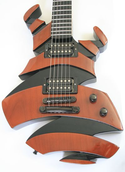"* MARET guitars ~ ""Helix"" model - Front ~ Here is the website link for Maret guitars > http://thehandmadeguitar.com/maret-guitars ~ The link below is NOT the website, just some pinterest page ..."