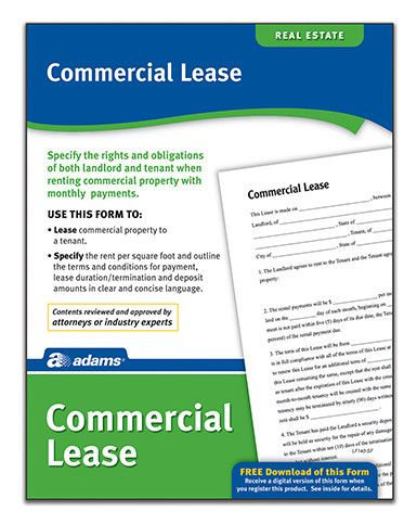 Commercial Lease Forms And Instruction Set Of   Products