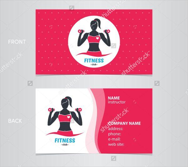 Sport Und Fitness Geschäfts Karten Auch Fitness Business