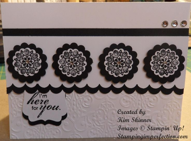 Stampin' Up! Round Array and Bloomin' with Kindness stamp sets from Stamping Imperfection.