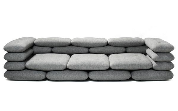 KiBiSi has designed the Brick series for versus. KiBiSi set out to make a sofa with strong architectural references since KiBiSi partner Bjarke Ingels couldn't really find the right architect's sofa f
