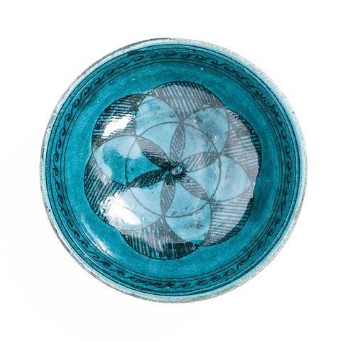 Turquoise Decorative Bowl Large Turquoise Ceramic Bowl  Afghanistan  Carolina Irving