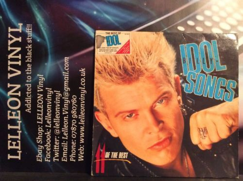 Billy Idol Songs 11 Of The Best LP Album Vinyl Record BILTVD1 Pop Rock 80's Music:Records:Albums/ LPs:Pop:1980s