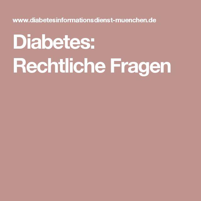 Diabetes: Rechtliche Fragen