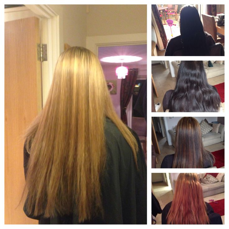 Changing colour black to blonde !