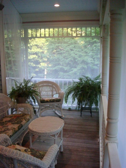 screened porch sheer curtains. They Come With Tracks That Work Just Like A Shower Curtain, Or Snaps. It\u0027s Having Screened Porch . Sheer Curtains