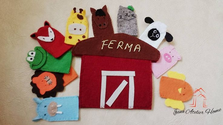 """17 aprecieri, 1 comentarii - Ioana Atelier Home (@ioana.atelier.home) pe Instagram: """"Animale domestice si salbatice. Marionete pentru degete cu saculet de depozitare ❤  #fingerpuppets…"""""""