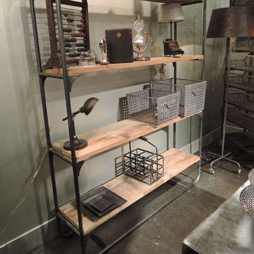 Etagère en bois et métal 4 étagères Edison Chehoma : Decoclico