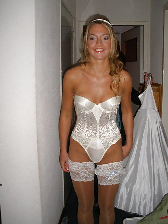 Wife wearing sexy lingerie
