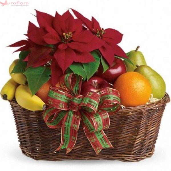 So natural - Cos gourmet cu fructe si Floarea Craciunului