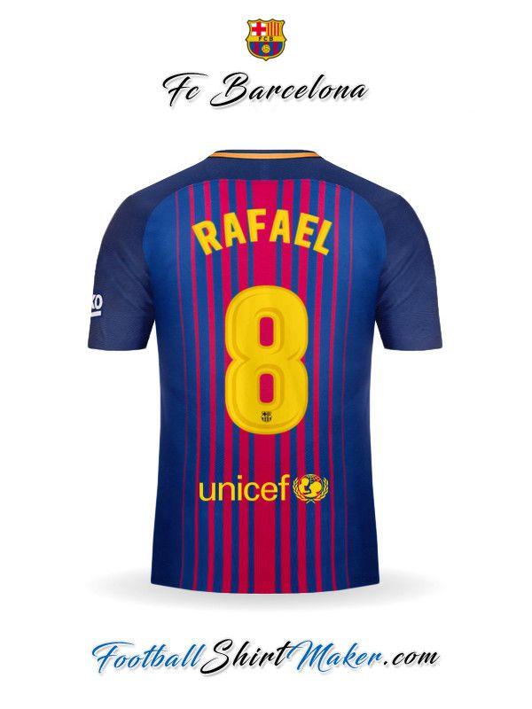 Camiseta FC Barcelona 2017 2018 Rafael 8  4610a0e1e84