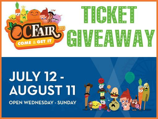OC Fair Ticket Giveaway