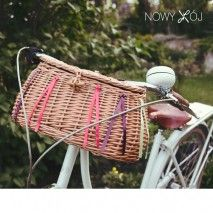 Wicker bike basket by nowykroj.pl