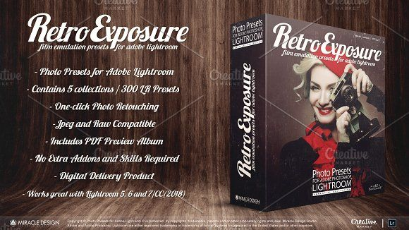 Presets for Lightroom Retro Exposure by Miracle_Design on