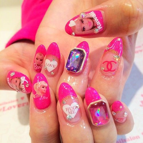 The 25 best barbie nail art games ideas on pinterest coffin heart nail artheart nailsbarbie prinsesfo Gallery