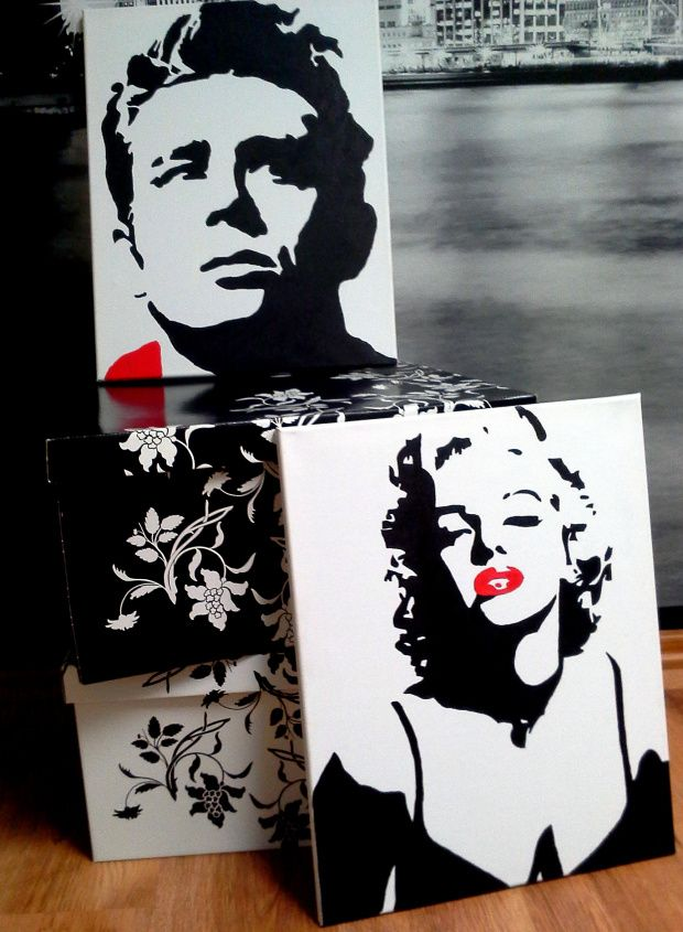 James Dean and Marilyn Monroe FOR SALE!! For custom orders feel free to contact me directly.