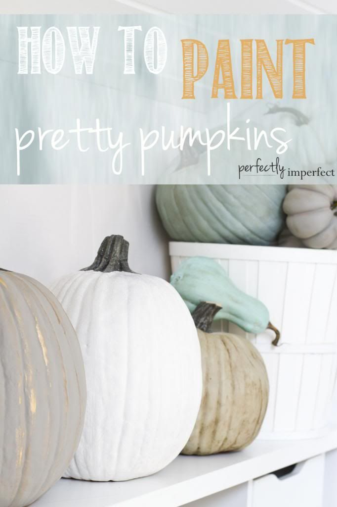 Fall Crafts: How to Paint Pretty Pumpkins   perfectly imperfect
