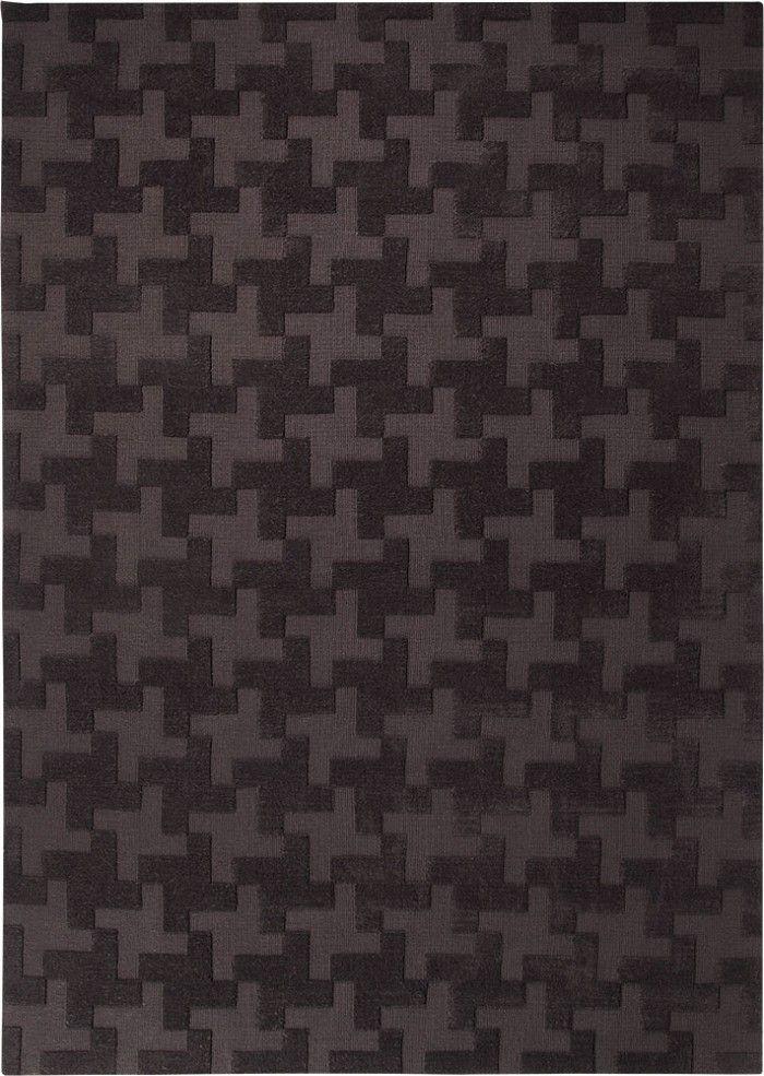 Wie ein exklusives Stoffmuster wirkt dieser Teppich und zeigt dadurch seine Eleganz. Das, in Hoch-Tief Optik gearbeitete Pepita Muster, erhält seinen besonderen Reiz durch die Einfarbigkeit des Teppichs.