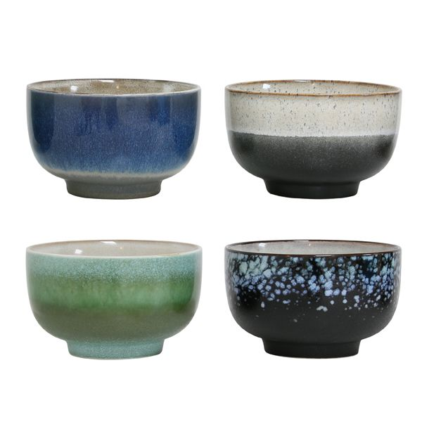 Products details - Glass / Ceramics - Porcelain 70's bowls set of 4