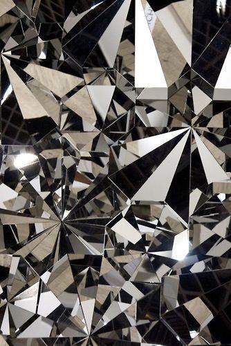diamond : crystalline : geometric