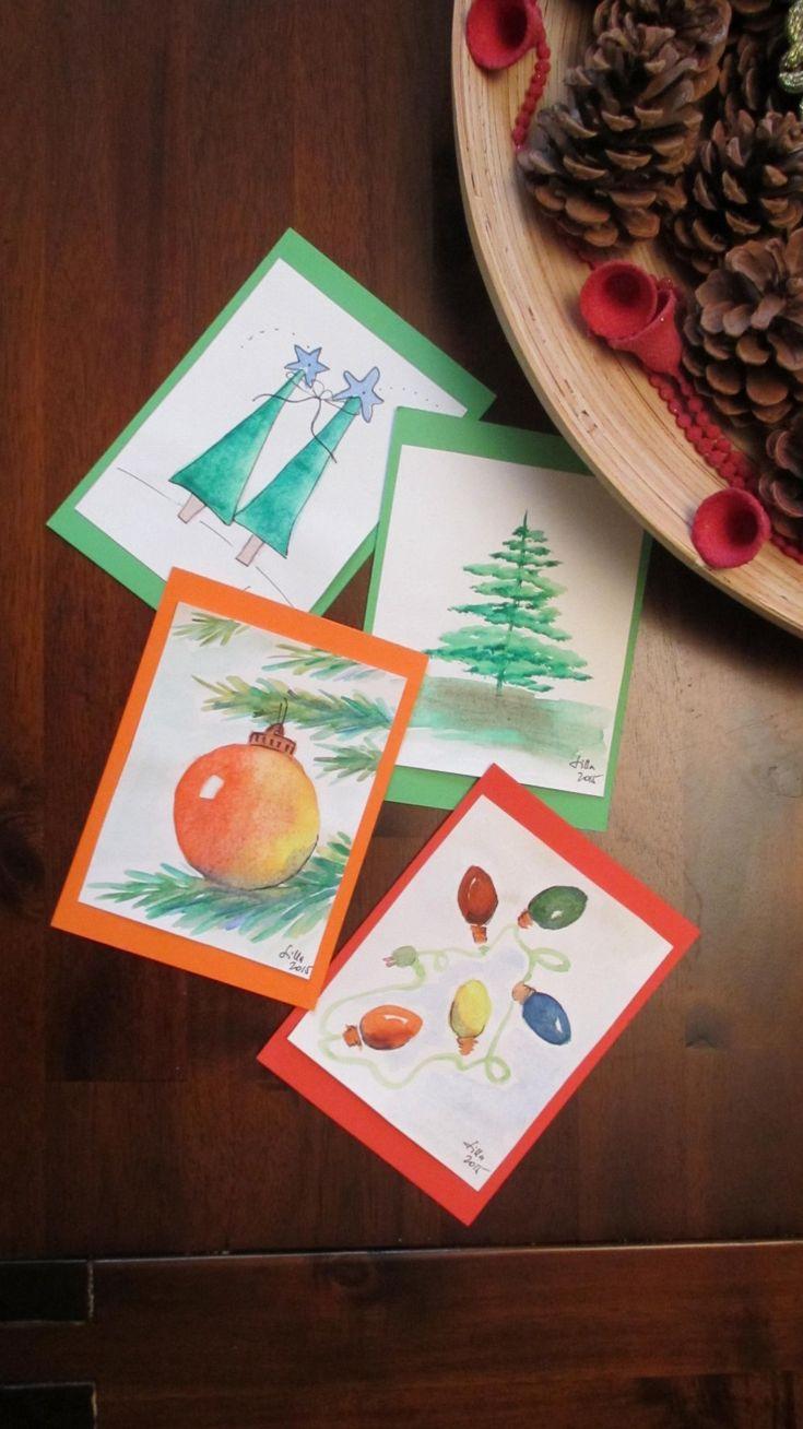 Az idén azt találtam ki, hogy nagyon egyedi képeslapokat fogunk küldeni - én készítettem el őket.