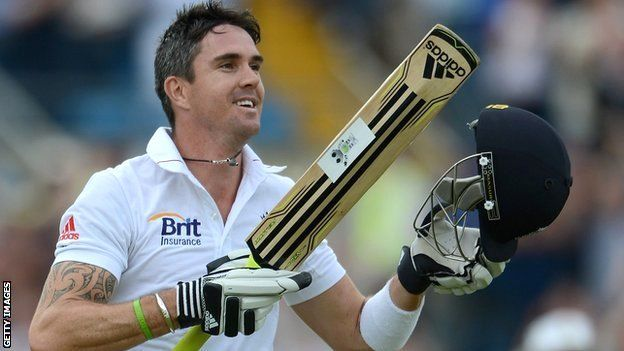 Surprise, surprise, it's Kevin Pietersen. Again. I do not have a crush on him. Or his bat.