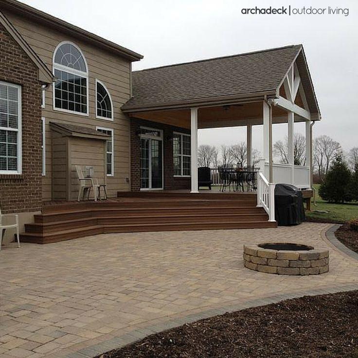 104 best patio ideas with decks, porches, pergolas and gardens ... - Open Patio Ideas