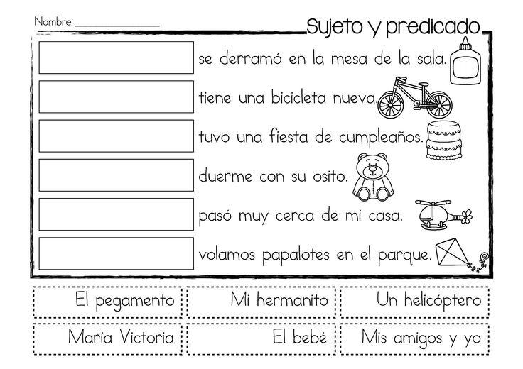 Centros de aprendizaje para practicar el sujeto y el predicado en español está compuesto por cinco centros de aprendizaje diferenciados para practicar el sujeto y el predicado en español. Además contiene 10 páginas reproducibles con diferentes actividades para cortar, pegar, leer y escribir. Al último, incluye dos pósters explicando e ilustrando la definición de sujeto y de predicado dentro de una oración.