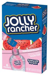 WHEN I DON'T WANT TO DRINK PLAIN WATER, I ADD A LITTLE KICK TO MY WATER WITH A JOLLY RANCHER DRINK MIX, IT'S ONLY 10 CALORIES PER PACKET AND YOU ONLY USE ONE!!! (I DRINK 2 TO 4 A DAY DEPENDING ON MY TASTE BUDS!!)