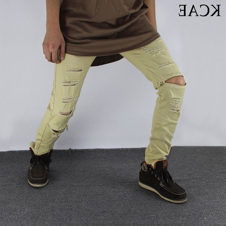 28.49$  Buy here - https://alitems.com/g/1e8d114494b01f4c715516525dc3e8/?i=5&ulp=https%3A%2F%2Fwww.aliexpress.com%2Fitem%2Fmen-biker-denim-jeans-zipper-ripped-jeans-for-men-skinny-Distressed-slim-mens-kanye-west-skinny%2F32711993298.html - men biker denim jeans zipper ripped jeans for men skinny Distressed slim mens kanye west skinny jeans hip hop  jeans ArmyGreen 28.49$