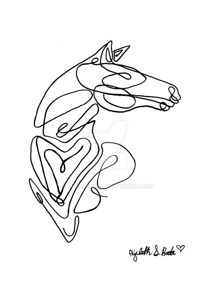Single Line Drawing Tattoos : Best horses in ink images on pinterest