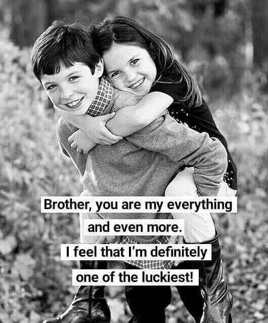 Фото с надписью про брата и сестру