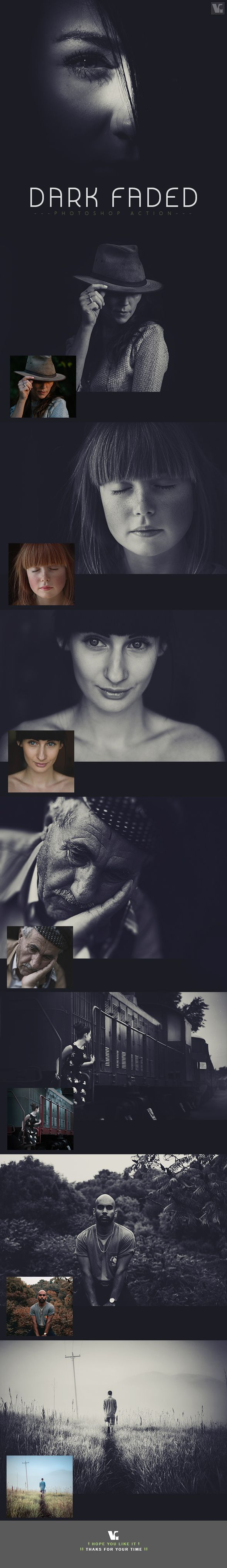 Dark Faded Photoshop Action - Photo Effects Actions