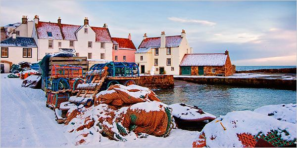 Pittenweem Harbour in winter