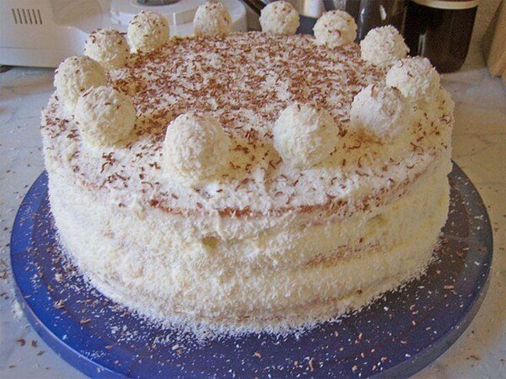 Bögrés Raffaello torta, ez tényleg olyan finom, mint a Raffaello golyók! - Bidista.com - A TippLista!