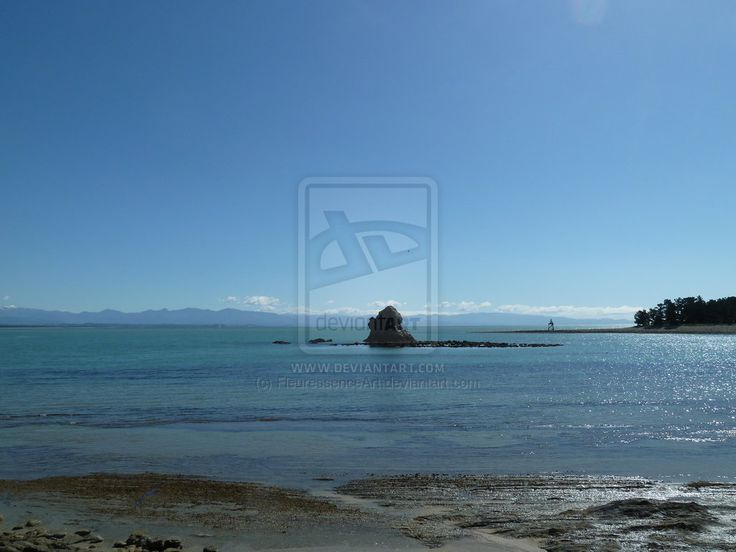 Rock in the sea, Nelson, NZ by FleuressenceArt.deviantart.com on @deviantART