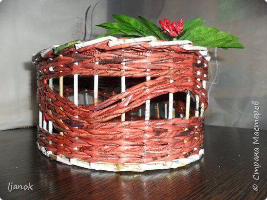 Поделка изделие Праздник осени Декупаж Плетение Набор Калина красная Бумага газетная Салфетки фото 3