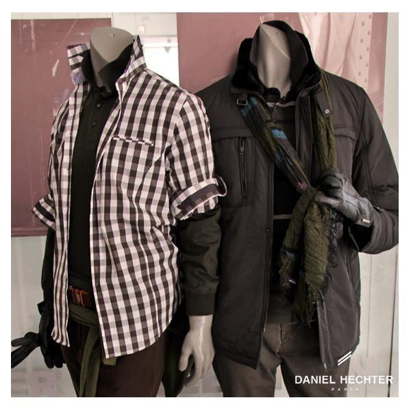 #Estilo #Moda #Hombre #Daniel #Hechter #Look #camisa #cuadrille #campera #bufanda