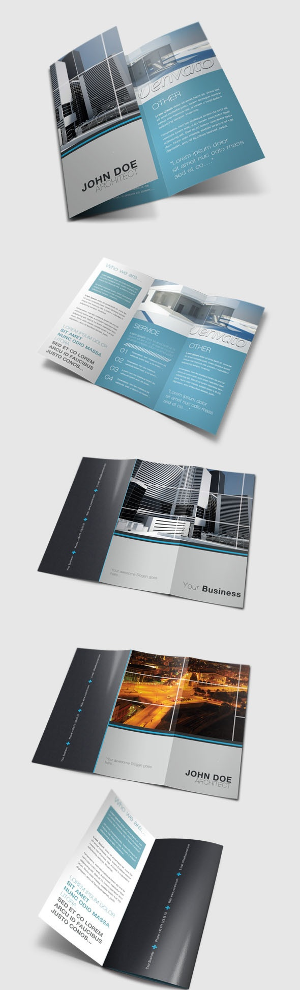 Tri Fold Brochure by Danijel Mokic, via Behance