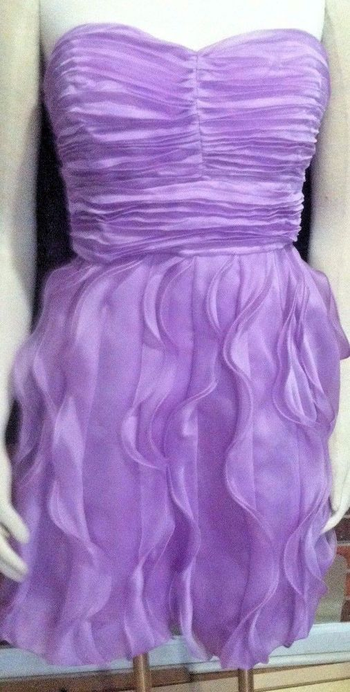 PROM DRESS Organza Strapless Lavender Wedding Formal BRIDES MAID Party NWT | Clothing, Shoes & Accessories, Wedding & Formal Occasion, Bridesmaids' & Formal Dresses | eBay!
