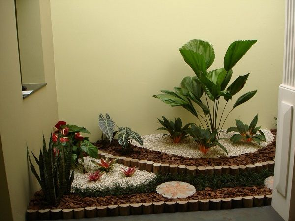Decoração de Jardim de Inverno Pequeno