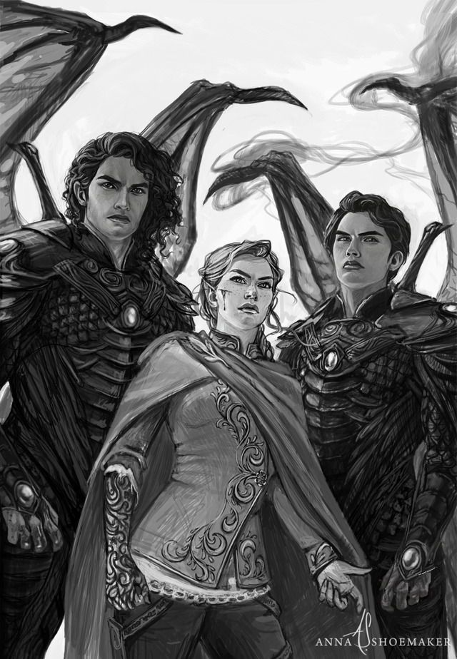 I font know who is them, but when I saw this I remembered for Eragon, Murtagh And Arya