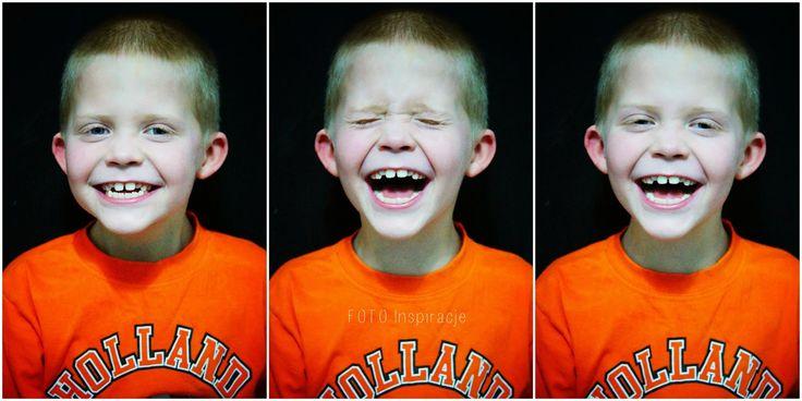 Rozbrajający uśmiech Danielka.