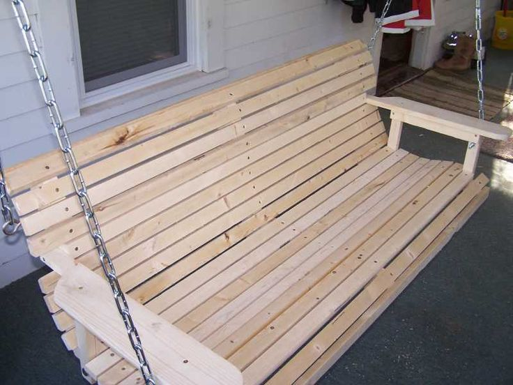 Wood porch swing plan homemade porch swing that is easy for Easy porch swing
