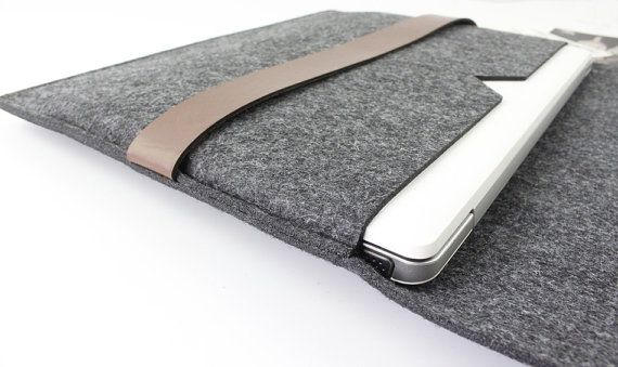 Zipper Felt Macbook 12 inch sleeve New Macbook 12 case by FeltSJie