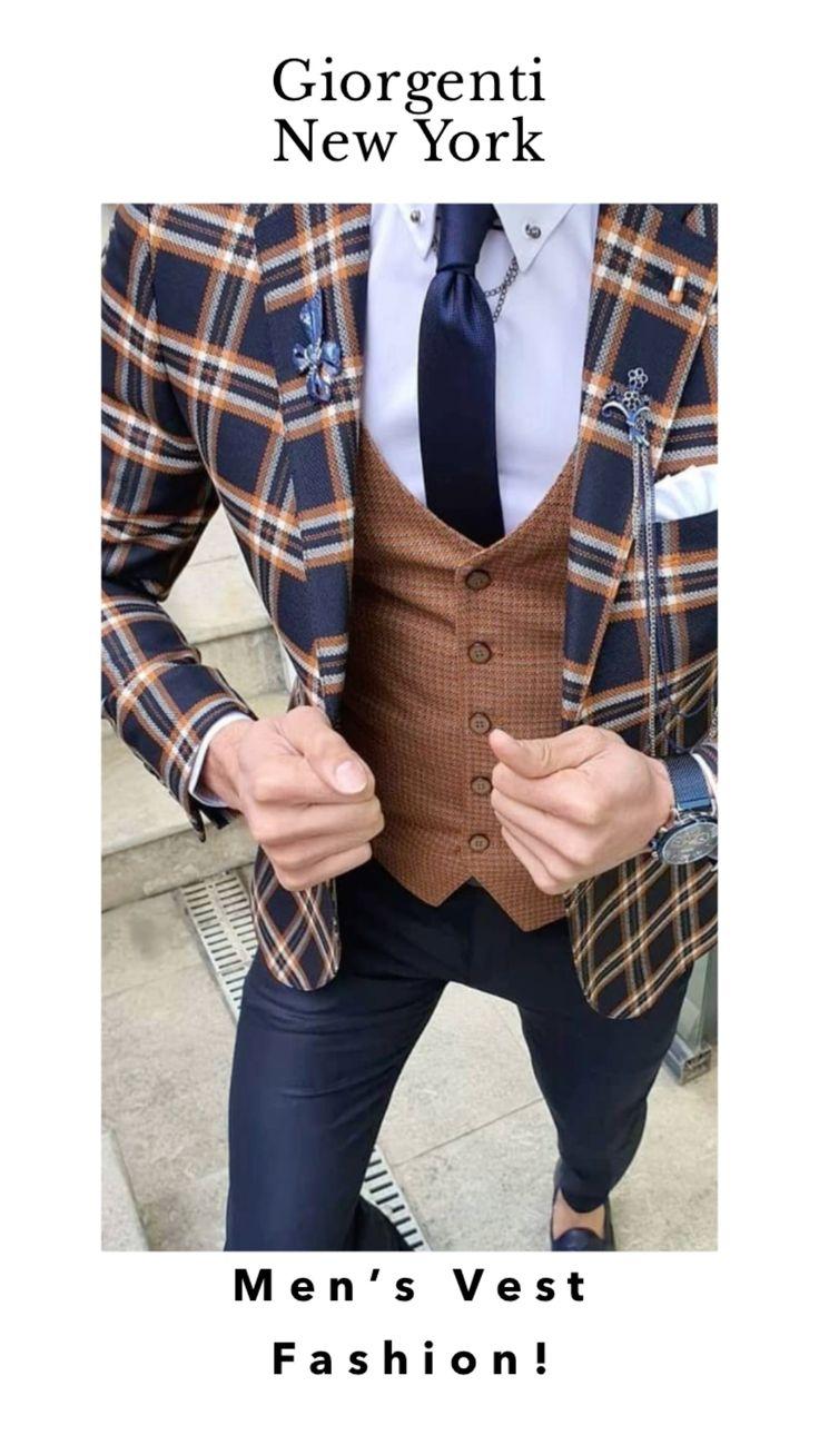 Formal Men Outfit, Formal Suits, Casual Outfits, Fashion Suits, Men Fashion, Three Piece Suit, Suit Vest, Dapper Men, Groom Attire