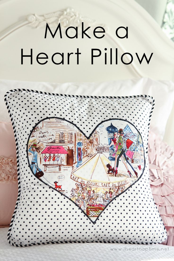 Gorgeous Heart Applique for Pillows by Girl. Inspired.Nx