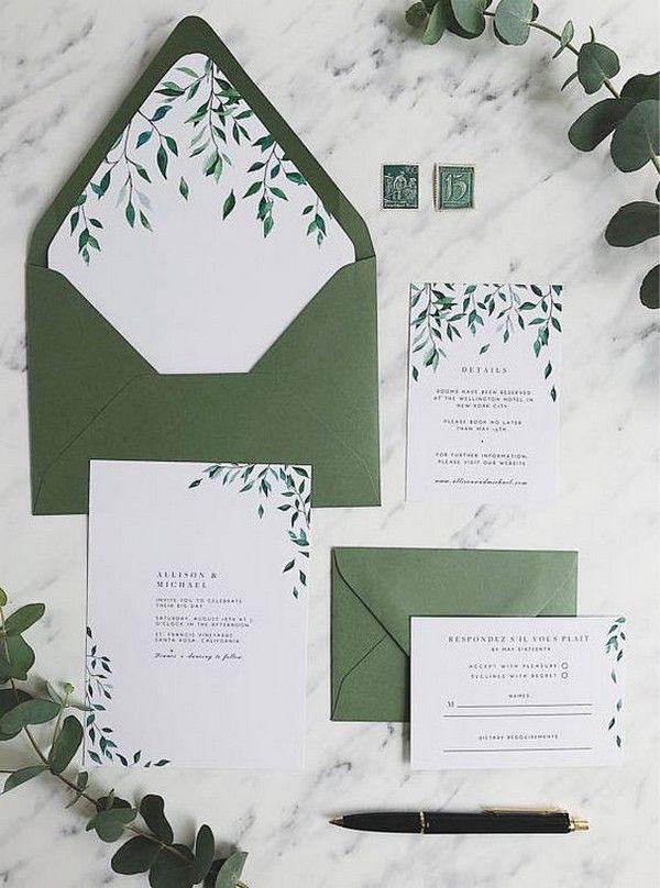 Eucalyptus Wedding Invitation Watercolor Wedding Invitation Etsy Greenery Wedding Invitations Eucalyptus Wedding Invitation Green Wedding Invitations