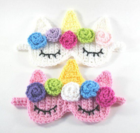 DIY Gift Unicorn Sleep Mask Unicorn Crochet Pattern | Etsy