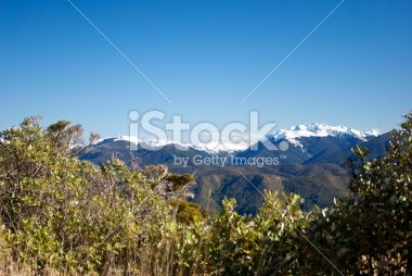 Snow Covered Ranges, The Kahurangi National Park, New Zealand Royalty Free Stock Photo
